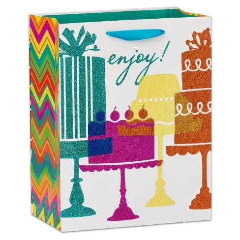 Birthday Cakes Large Gift Bag - Papyrus - image 1 of 3