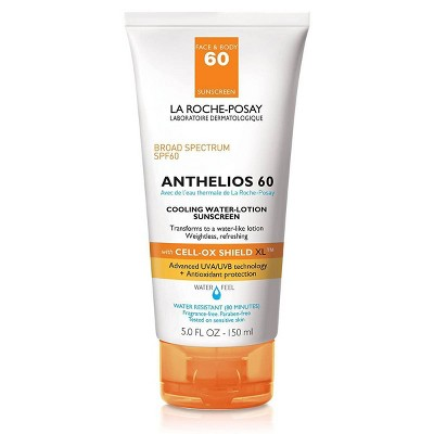 La Roche Posay Anthelios Cooling Water-Lotion Face and Body Sunscreen SPF 60 - 5.0 fl oz