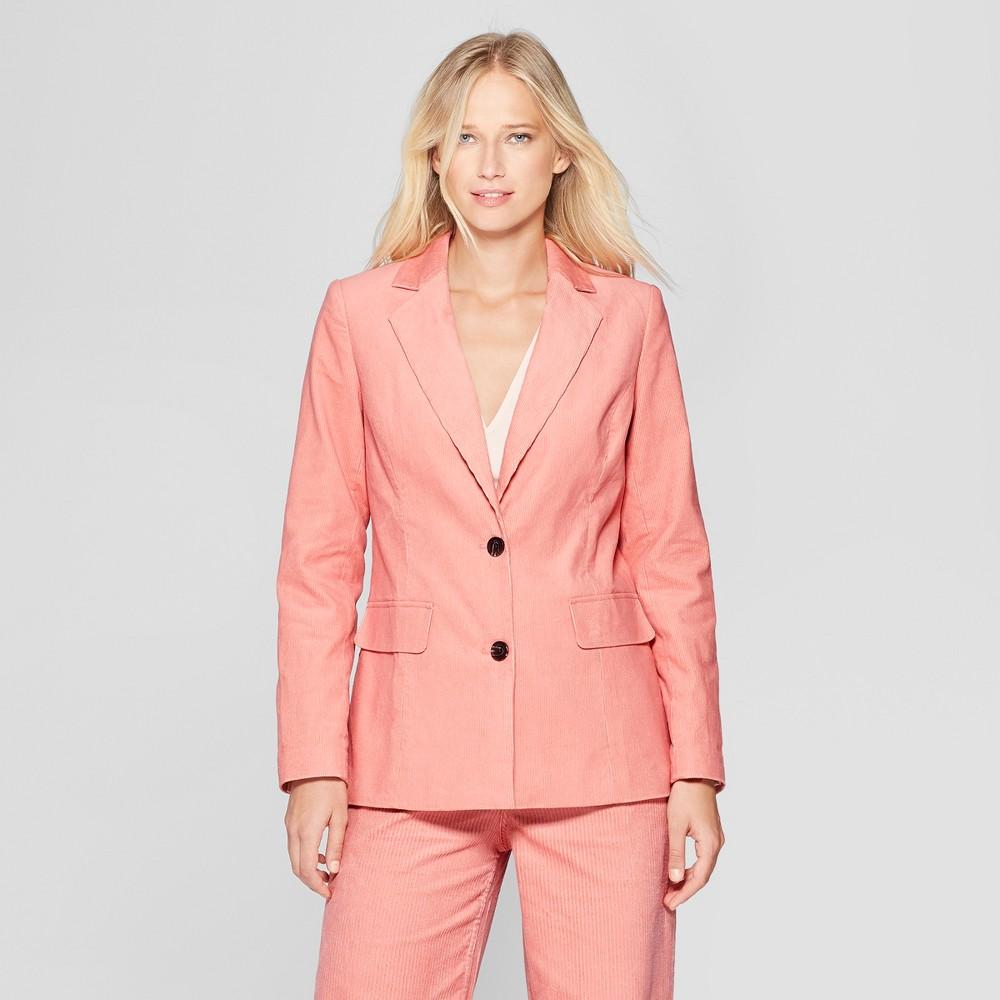 Women's Corduroy Blazer - Who What Wear Pink L