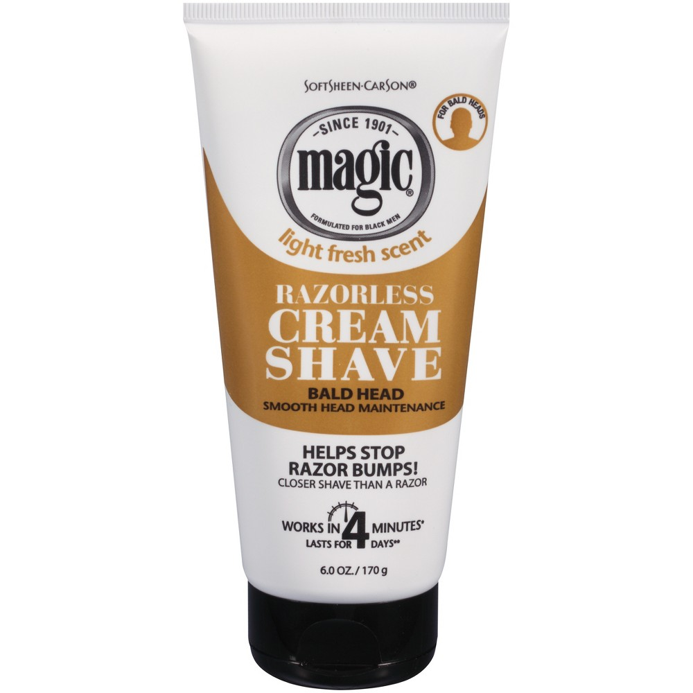 Image of SoftSheen-Carson Magic Razorless Cream Shave Smooth Bald Head Maintenance 6-oz.