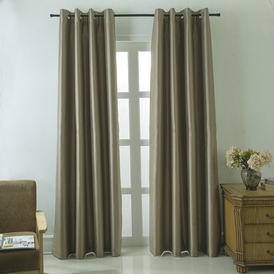 Ramallah Trading Shelton Faux Silk Single Curtain Panel With 8 Grommets - 54x84""