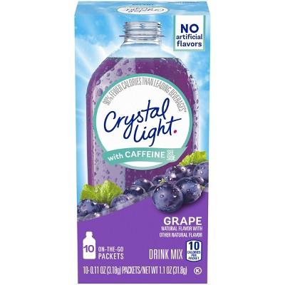 Crystal Light On the Go Grape Energy Drink Mix - 10pk/0.11oz Stix