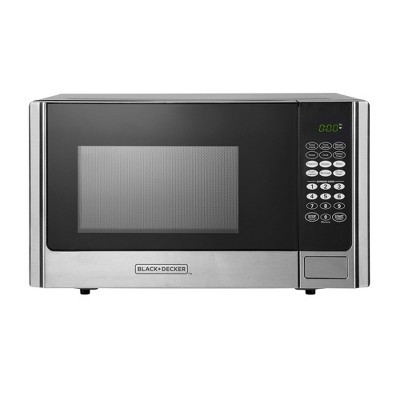 Black+Decker 900 Watt 0.9 Cubic Feet Microwave with Digital Touch Controls and Display, Stainless Steel