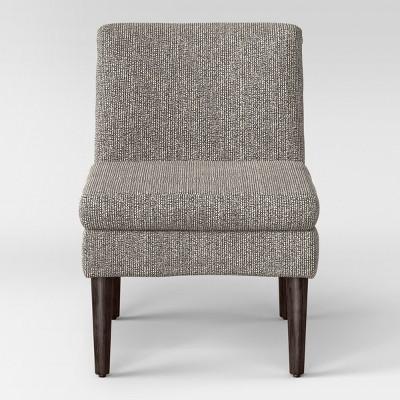 Fully Assembled Winnetka Modern Slipper Chair Black/Cream - Project 62™