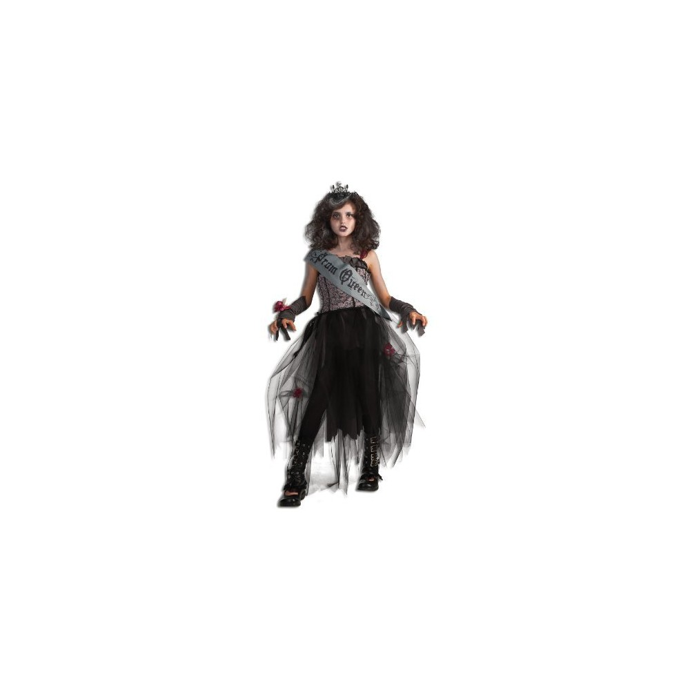 Vintage Style Children's Clothing: Girls, Boys, Baby, Toddler Girls Gothic Prom Queen Costume L10-12 Black $23.49 AT vintagedancer.com