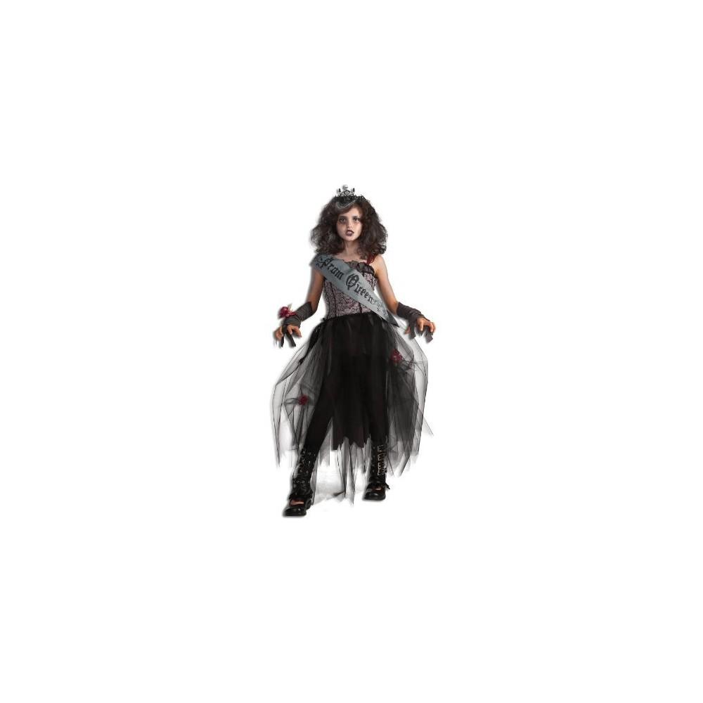 Steampunk Kids Costumes | Girl, Boy, Baby, Toddler Girls Gothic Prom Queen Costume L10-12 Black $23.49 AT vintagedancer.com