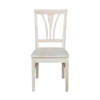 Set Of 2 Fanback Chair Unfinished   International Concepts : Target