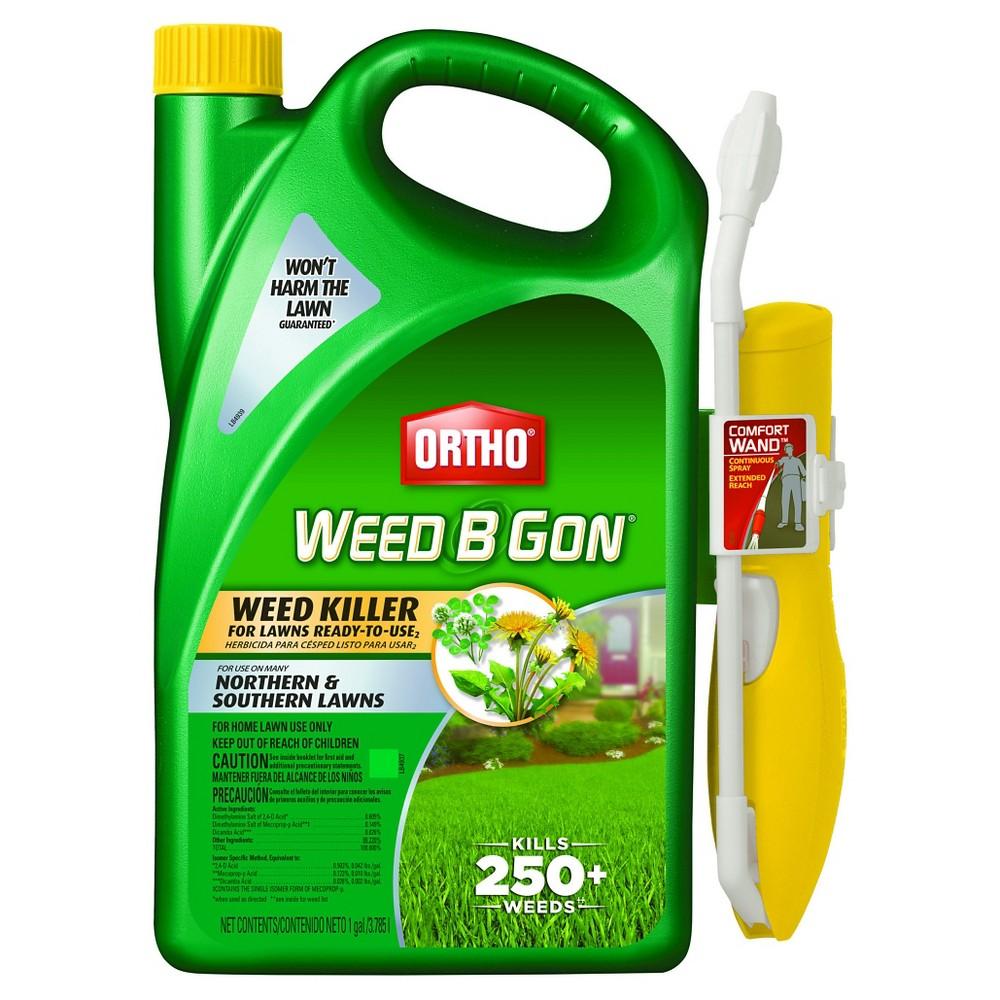 SC Johnson Ortho Weed B Gon Weed Killer for Lawns 1 Gallon Ready to Use Wand