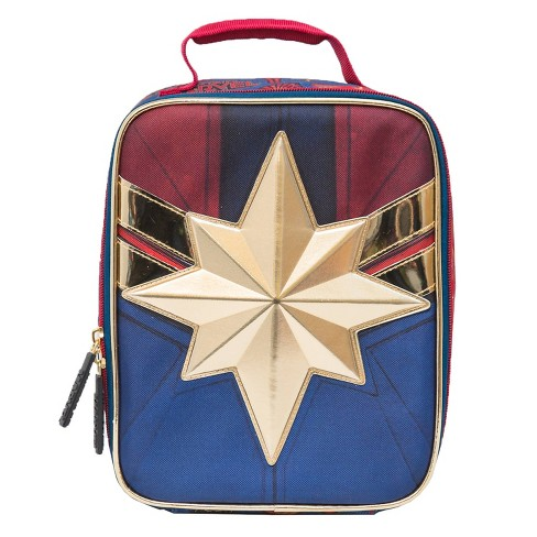 Marvel Captain Marvel Lunch Tote - Blue/Red - image 1 of 4