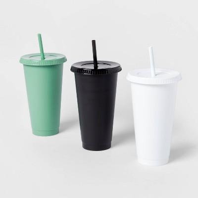 24oz 3pk Plastic Reusable Cold Cup - Room Essentials™