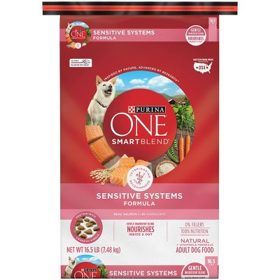 Purina ONE SmartBlend Sensitive Systems Adult Dry Dog Food - 16.5lbs