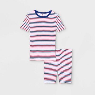 Kids' Americana Striped Matching Family Pajama Set - White