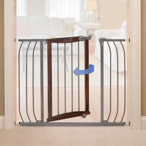 Summer Infant Walk Thru Anywhere Decorative Baby Gate Wood And