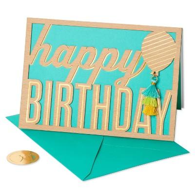 Happy Birthday Tassel Balloon Card - PAPYRUS