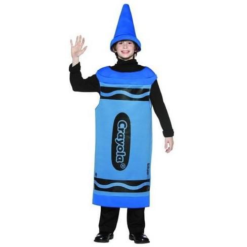 Rasta Imposta Blue Crayola Crayon Child Costume Tween - image 1 of 1