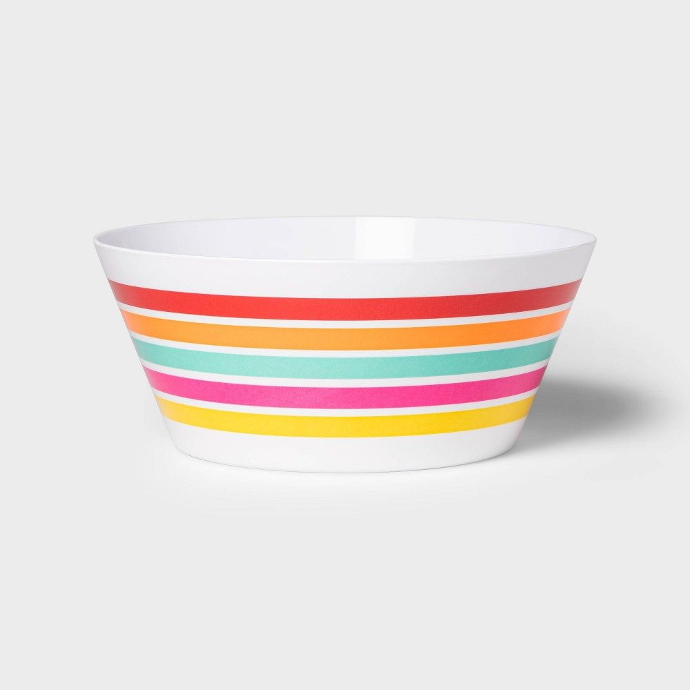 Image of 115oz Melamine Striped Serving Bowl - Sun Squad