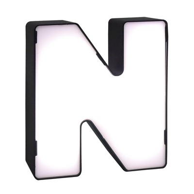 LED Neon Letter - N Novelty Table Lamp Brass - Room Essentials™
