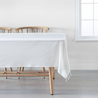 Stripe Tablecloth - Sour Cream / Blue - Hearth & Hand™ with Magnolia
