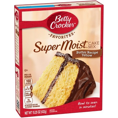 Baking Mixes: Betty Crocker Super Moist Favorites Butter Recipe Yellow Cake Mix
