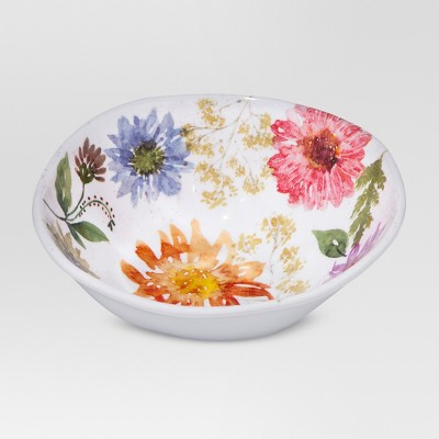 Plastic Floral Cereal Bowl 25oz - Threshold™