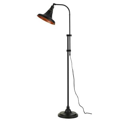 "47""-58"" Adjustable Height Metal Taranto Floor Lamp with Shade Dark Bronze - Cal Lighting"