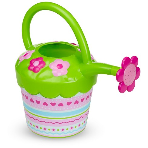 Melissa & Doug® Sunny Patch Pretty Petals Flower Watering Can - Pretend Play Toy - image 1 of 2