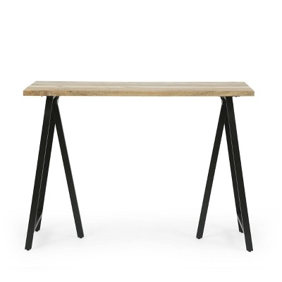 Toccoa Modern Industrial Handcrafted Mango Wood Desk Natural/Black - Christopher Knight Home