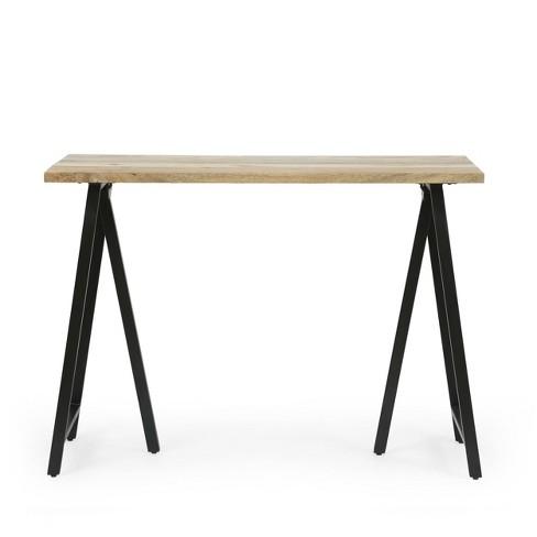 Toccoa Modern Industrial Handcrafted, Mango Wood Desk