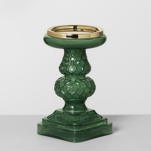 Pillar Candle Holder - Green - Opalhouse™ - image 1 of 4