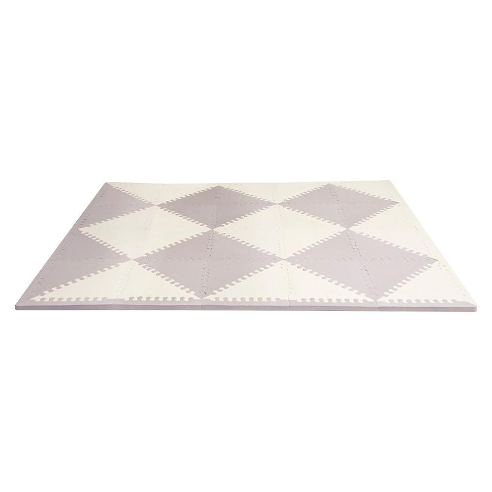 Skip Hop Playspot Geo Foam Floor Tiles, Chevron, Ivory/Gray