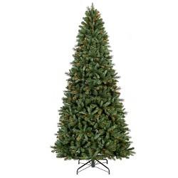 10.5ft Pre-lit Artificial Christmas Tree Douglas Fir Clear Lights Full - Wondershop™