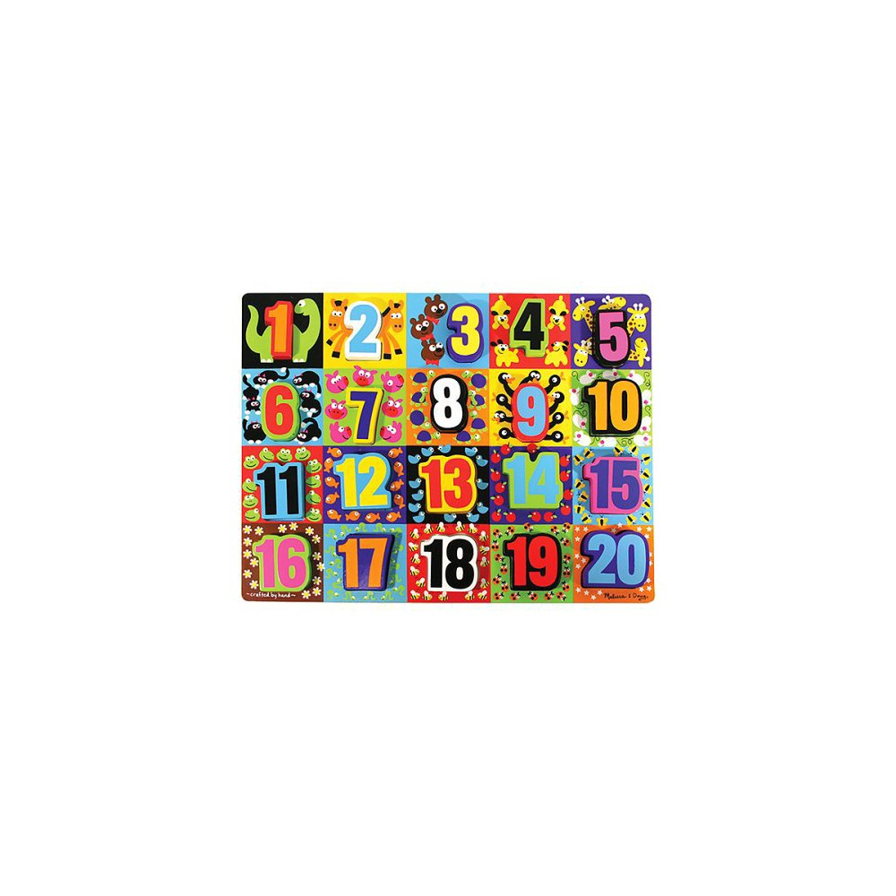 Melissa 38 Doug Jumbo Numbers Wooden Chunky Puzzle 20pc