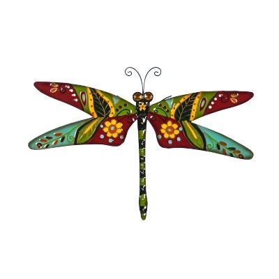 Evergreen Boho Dragonfly, Red/Green