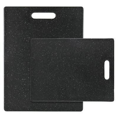 Dexas 2 Piece Polyethylene Cutting Board Set - Midnight Granite