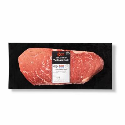 USDA Choice Angus Beef Top Round Steak - 0.75-1.25 lbs - price per lb - Good & Gather™