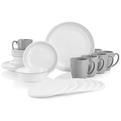 Corelle 30pc Vitrelle Dinnerware Set Gray