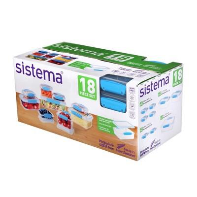 Sistema 18pc Food Storage Container Set Blue