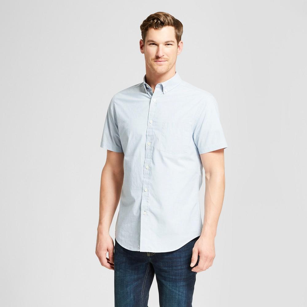 Men's Short Sleeve Button-Down Shirt - Goodfellow & Co School Blue 2XL was $17.99 now $12.0 (33.0% off)