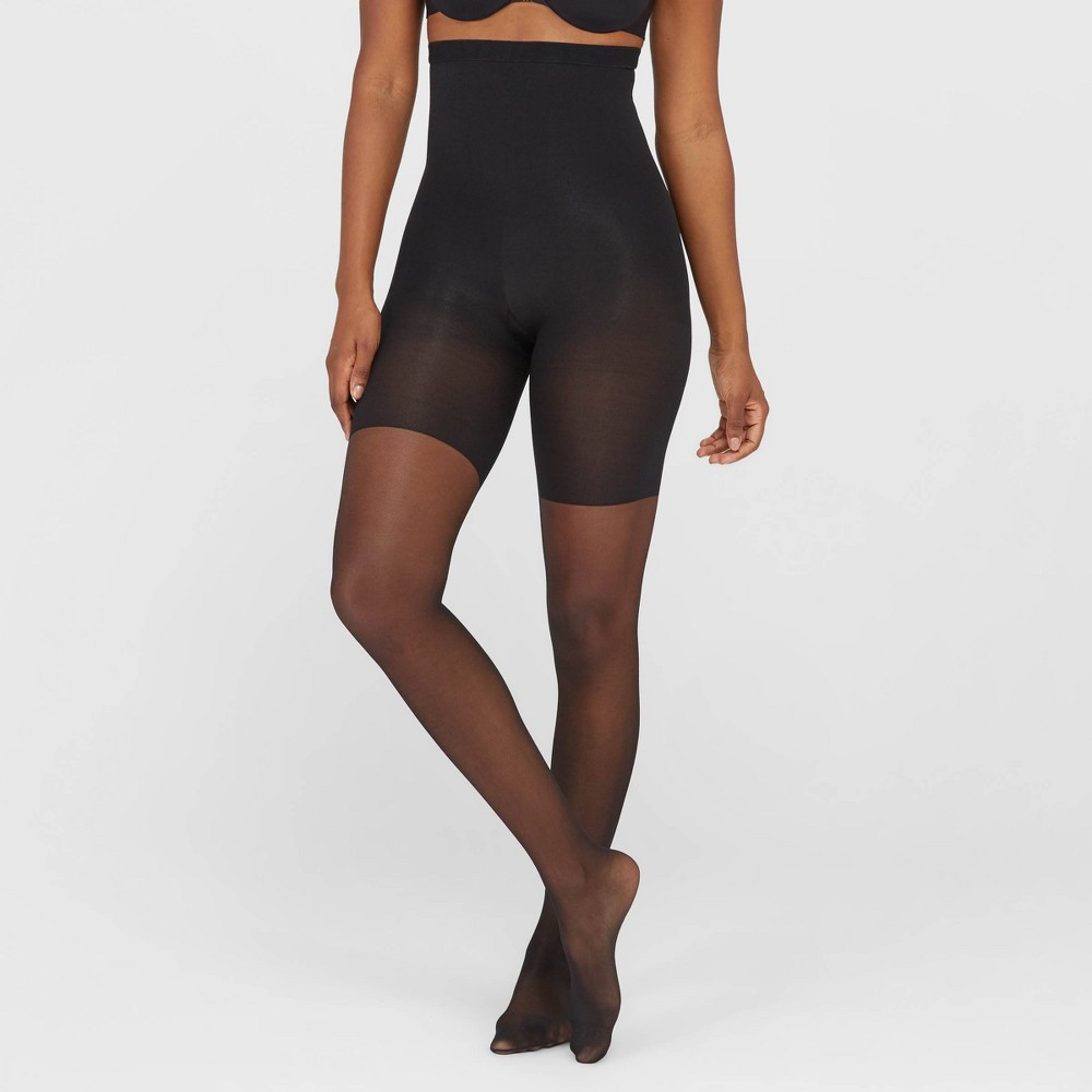 Image of Assets By Spanx Women's High-Waist Shaping Pantyhose - Black 1