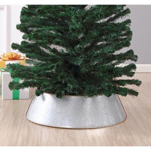 Saro Lifestyle Galvanized Christmas Tree Ring With Gold Rim - image 1 of 4