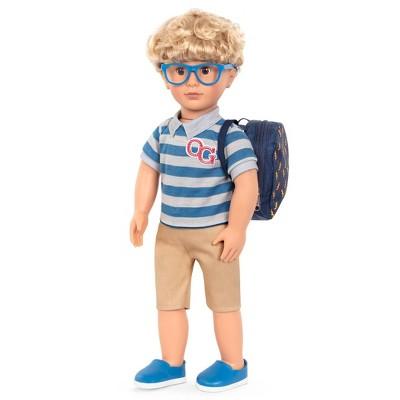 "Our Generation 18"" Boy Doll with School Bag - Leo"