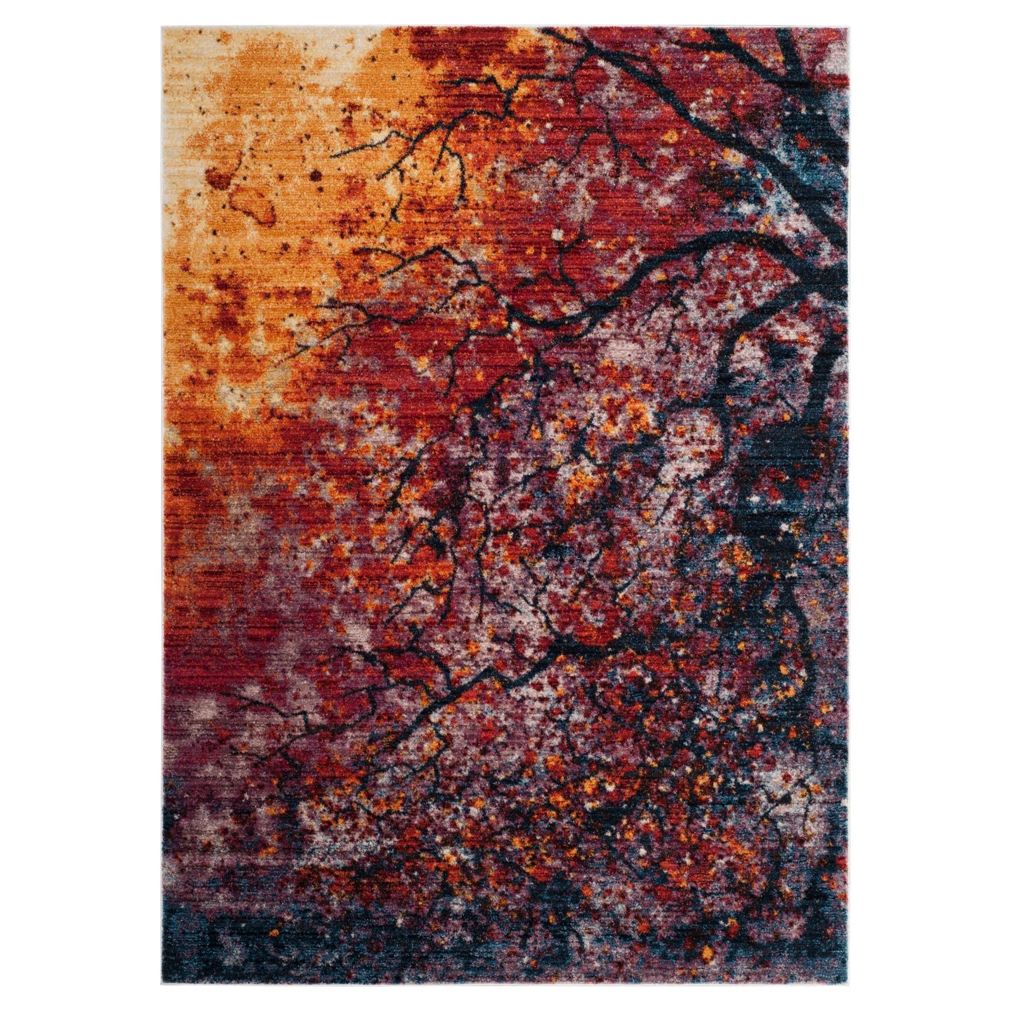 Lavender/Rust Tree Loomed Accent Rug 3'X5' - Safavieh, Red Purple