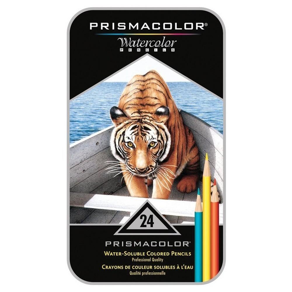 24ct Prismacolor Watercolor Pencils-Assorted Colors 8x4.5, Multi-Colored