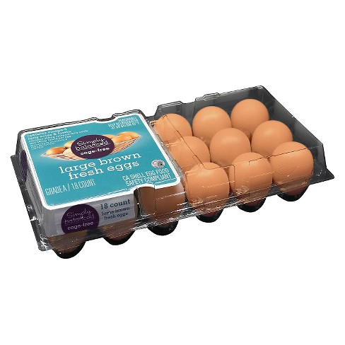 Cage Free Large Brown Eggs - 18ct - Simply Balanced™ - image 1 of 1
