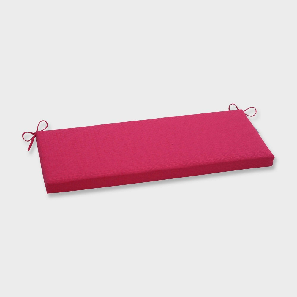 Paragon Raspberry Outdoor Bench Cushion Pink - Pillow Perfect