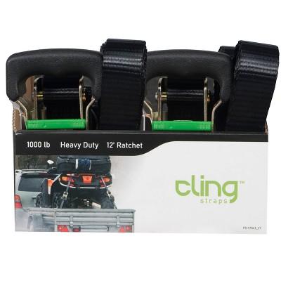 Cling 12' Heavy Duty Ratchet Tie Down
