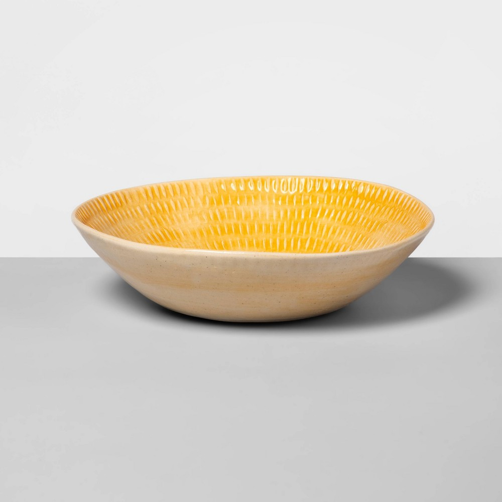 "Image of ""10"""" x 6.3"""" Ceramic Round Bowl Yellow - Wonki Ware for Opalhouse"""