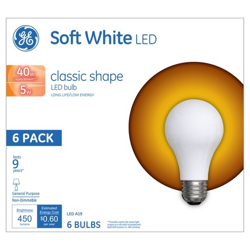 General Electric - LED 40W Aline 6pk - Soft White - image 1 of 2