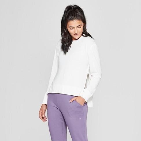 Women's Crew Neck Fleece Sweatshirt- JoyLab™ - image 1 of 2