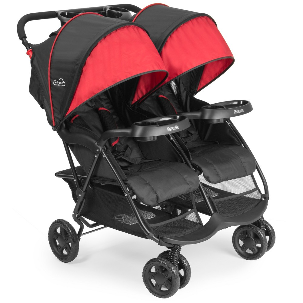 Image of Kolcraft Cloud Plus Double Stroller - Black